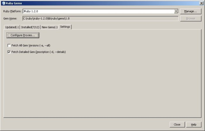 Netbeans_Ruby_Gems_Settings_Tab