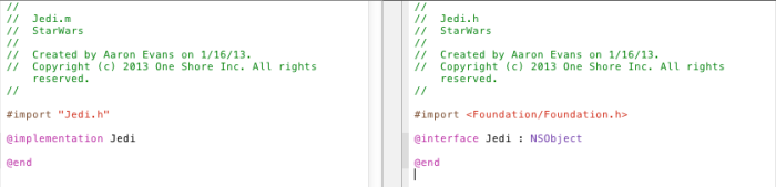 Jedi interface and implementation